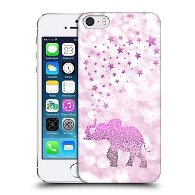 Official Monika Strigel Champagne Glitters 1 Happy Elephant Pink Hard Back Case For Apple Iphone 5 / 5S / Se