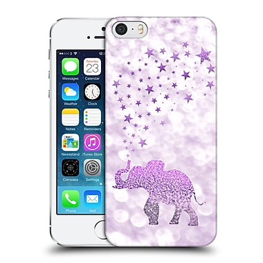 Official Monika Strigel Champagne Glitters 1 Happy Elephant Purple Hard Back Case For Apple Iphone 5 / 5S / Se