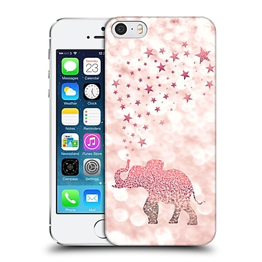 Official Monika Strigel Champagne Glitters 1 Happy Elephant Rose Hard Back Case For Apple Iphone 5 / 5S / Se