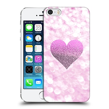Official Monika Strigel Champagne Glitters 2 Heart Pink Hard Back Case For Apple Iphone 5 / 5S / Se