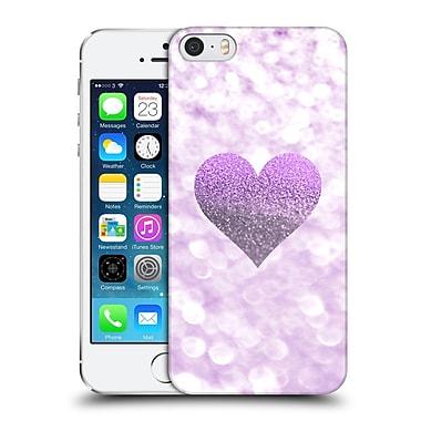 Official Monika Strigel Champagne Glitters 2 Heart Purple Hard Back Case For Apple Iphone 5 / 5S / Se