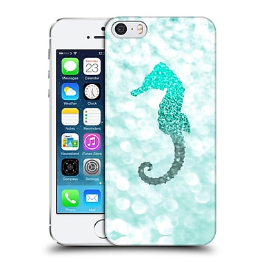 Official Monika Strigel Champagne Glitters 2 Seahorse Mint Hard Back Case For Apple Iphone 5 / 5S / Se
