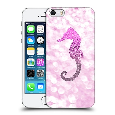 Official Monika Strigel Champagne Glitters 2 Seahorse Pink Hard Back Case For Apple Iphone 5 / 5S / Se