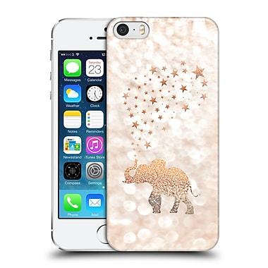 Official Monika Strigel Champagne Gold Happy Elephant Hard Back Case For Apple Iphone 5 / 5S / Se