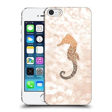 Official Monika Strigel Champagne Gold Seahorse Hard Back Case For Apple Iphone 5 / 5S / Se