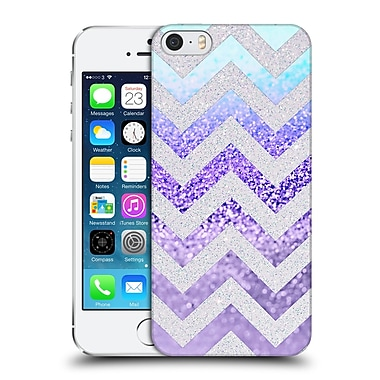 Official Monika Strigel Funky Chevron Plum Hard Back Case For Apple Iphone 5 / 5S / Se
