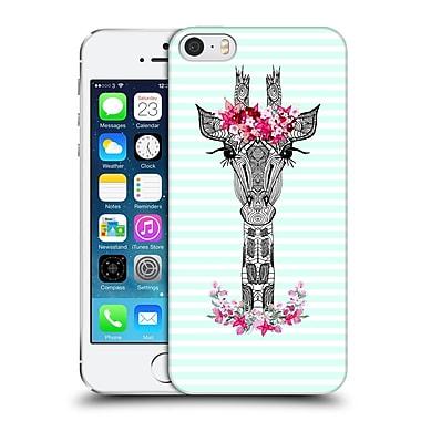 Official Monika Strigel Flower Giraffe And Stripes Mint Hard Back Case For Apple Iphone 5 / 5S / Se