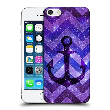 Official Monika Strigel Galaxy Anchors Purple Hard Back Case For Apple Iphone 5 / 5S / Se