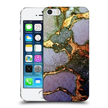 Official Monika Strigel Gemstone And Gold Purple Fading Hard Back Case For Apple Iphone 5 / 5S / Se