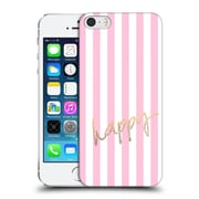 Official Monika Strigel Gold And Happy Vertical Hard Back Case For Apple Iphone 5 / 5S / Se