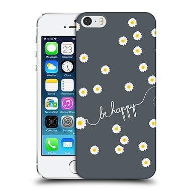 Official Monika Strigel Happy Daisy Grey Hard Back Case For Apple Iphone 5 / 5S / Se