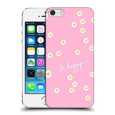 Official Monika Strigel Happy Daisy Pink Hard Back Case For Apple Iphone 5 / 5S / Se