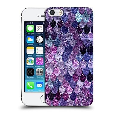Official Monika Strigel Happy Mermaid Dark Purple Hard Back Case For Apple Iphone 5 / 5S / Se