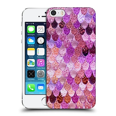 Official Monika Strigel Happy Mermaid Sunset Pink Hard Back Case For Apple Iphone 5 / 5S / Se