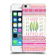 Official Monika Strigel Happy Quote Good Vibes Hard Back Case For Apple Iphone 5 / 5S / Se