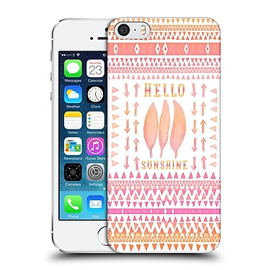 Official Monika Strigel Happy Quote Hello Sunshine Hard Back Case For Apple Iphone 5 / 5S / Se