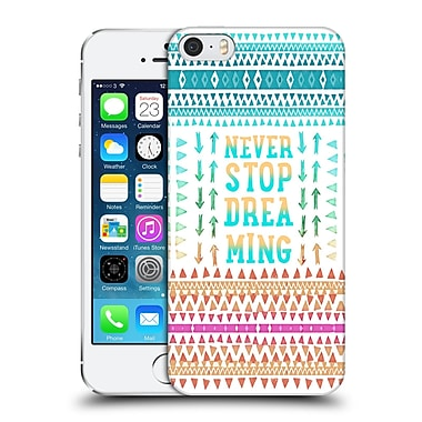 Official Monika Strigel Happy Quote Never Stop Dreaming Hard Back Case For Apple Iphone 5 / 5S / Se