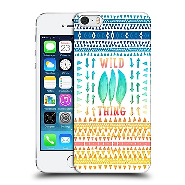 Official Monika Strigel Happy Quote Wild Thing Hard Back Case For Apple Iphone 5 / 5S / Se