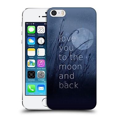 Official Monika Strigel Love Quote Blue Hard Back Case For Apple Iphone 5 / 5S / Se