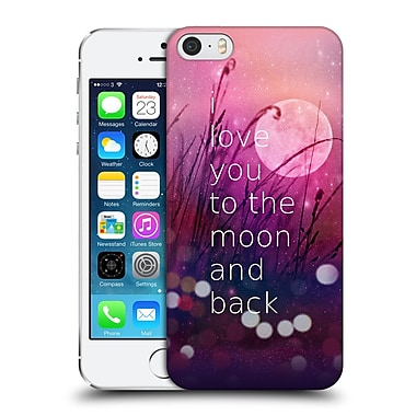 Official Monika Strigel Love Quote Pink Hard Back Case For Apple Iphone 5 / 5S / Se