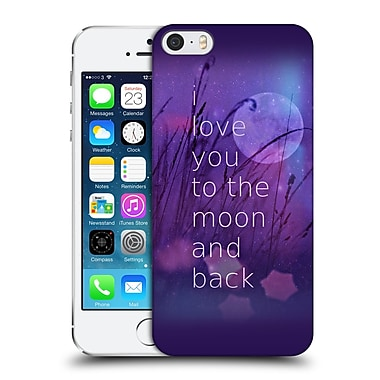 Official Monika Strigel Love Quote Purple Hard Back Case For Apple Iphone 5 / 5S / Se