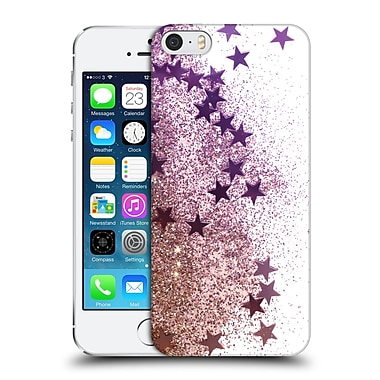 Official Monika Strigel Shaky Stars Gold Pink Hard Back Case For Apple Iphone 5 / 5S / Se