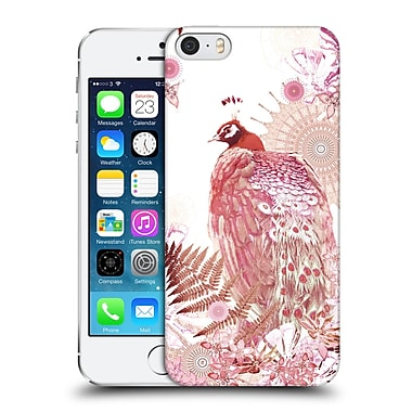 Official Monika Strigel Tropical Peacock Coral Hard Back Case For Apple Iphone 5 / 5S / Se