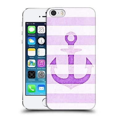 Official Monika Strigel Vintage Anchors Lavender Hard Back Case For Apple Iphone 5 / 5S / Se