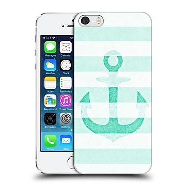 Official Monika Strigel Vintage Anchors Mint Hard Back Case For Apple Iphone 5 / 5S / Se