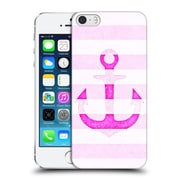 Official Monika Strigel Vintage Anchors Neon Pink Hard Back Case For Apple Iphone 5 / 5S / Se