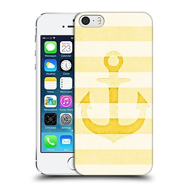 Official Monika Strigel Vintage Anchors Yellow Hard Back Case For Apple Iphone 5 / 5S / Se