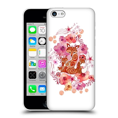 Official Monika Strigel Animals And Flowers Fox Family Hard Back Case For Apple Iphone 5C