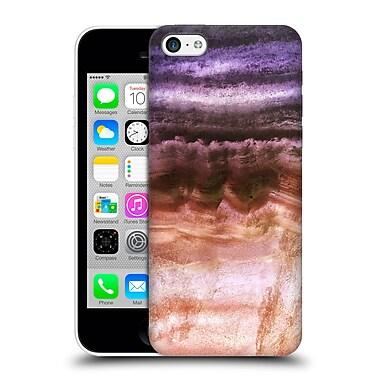 Official Monika Strigel Agate Gemstone Purple Gold Hard Back Case For Apple Iphone 5C