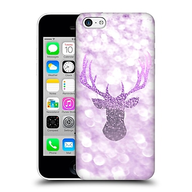 Official Monika Strigel Champagne Glitters 1 Deer Purple Hard Back Case For Apple Iphone 5C