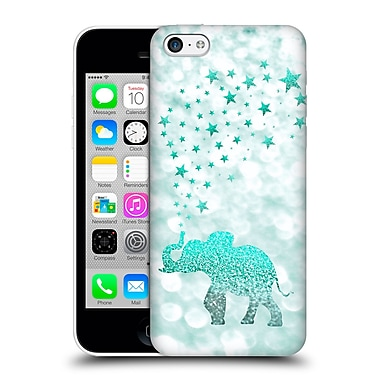 Official Monika Strigel Champagne Glitters 1 Happy Elephant Mint Hard Back Case For Apple Iphone 5C