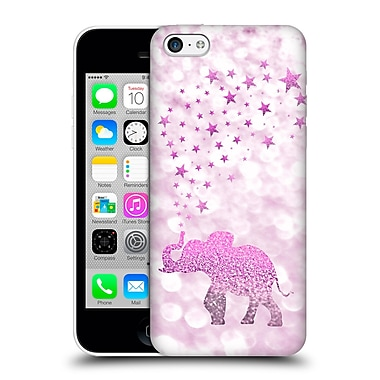 Official Monika Strigel Champagne Glitters 1 Happy Elephant Pink Hard Back Case For Apple Iphone 5C