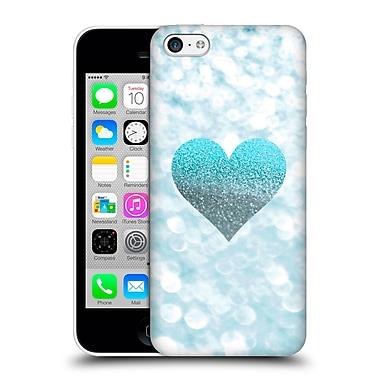 Official Monika Strigel Champagne Glitters 2 Heart Aqua Hard Back Case For Apple Iphone 5C