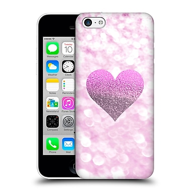 Official Monika Strigel Champagne Glitters 2 Heart Pink Hard Back Case For Apple Iphone 5C