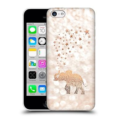 Official Monika Strigel Champagne Gold Happy Elephant Hard Back Case For Apple Iphone 5C