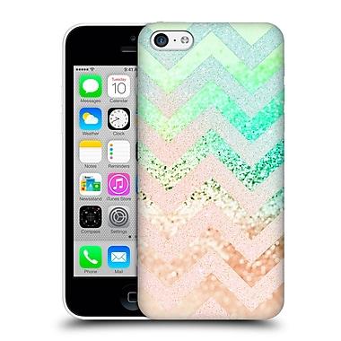 Official Monika Strigel Funky Chevron Crazy Peach Hard Back Case For Apple Iphone 5C