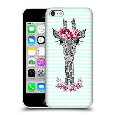 Official Monika Strigel Flower Giraffe And Stripes Mint Hard Back Case For Apple Iphone 5C