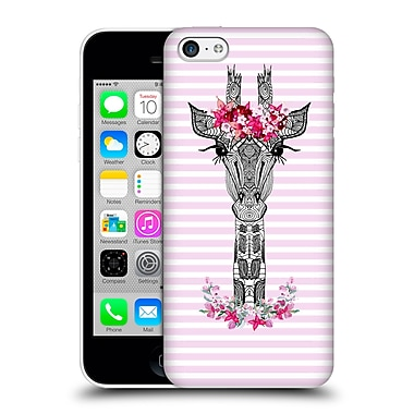 Official Monika Strigel Flower Giraffe And Stripes Pink Hard Back Case For Apple Iphone 5C