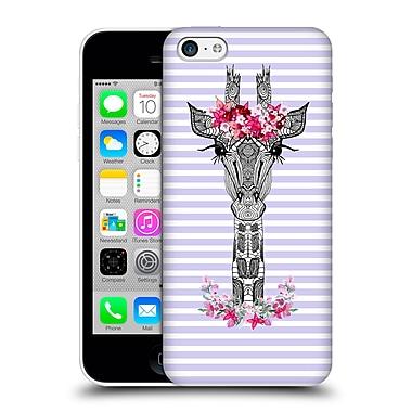 Official Monika Strigel Flower Giraffe And Stripes Purple Hard Back Case For Apple Iphone 5C