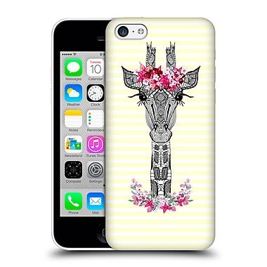 Official Monika Strigel Flower Giraffe And Stripes Yellow Hard Back Case For Apple Iphone 5C