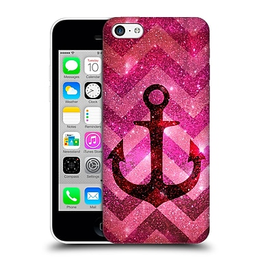 Official Monika Strigel Galaxy Anchors Coral Hard Back Case For Apple Iphone 5C