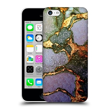 Official Monika Strigel Gemstone And Gold Purple Fading Hard Back Case For Apple Iphone 5C