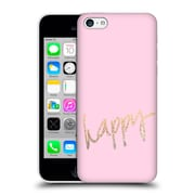 Official Monika Strigel Gold And Happy Pink Hard Back Case For Apple Iphone 5C
