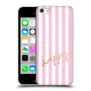 Official Monika Strigel Gold And Happy Vertical Hard Back Case For Apple Iphone 5C