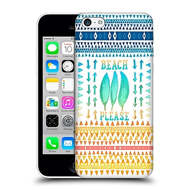 Official Monika Strigel Happy Quote Beach Please Hard Back Case For Apple Iphone 5C