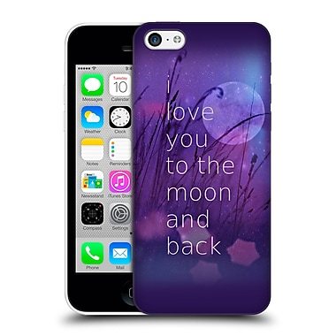 Official Monika Strigel Love Quote Purple Hard Back Case For Apple Iphone 5C